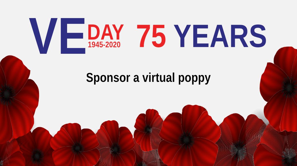 VE Day 75 sponsor a virtual poppy